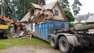Вывоз строительного мусора контейнером ПУХТО в СПб и ЛО