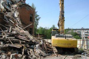 Демонтаж (снос) здания в Санкт-Петербурге