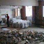 Демонтажные работы в помещении и вывоз мусора
